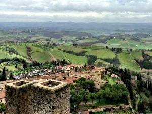 View of countryside San Gimigniano