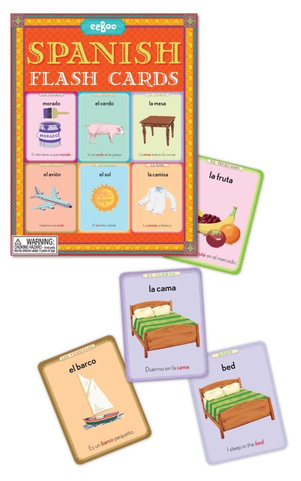 Flash cards are very useful when teaching a new language!