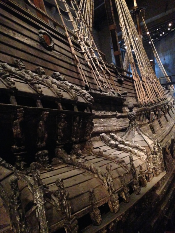 View of the side of the Vasa Stockholm Sweden