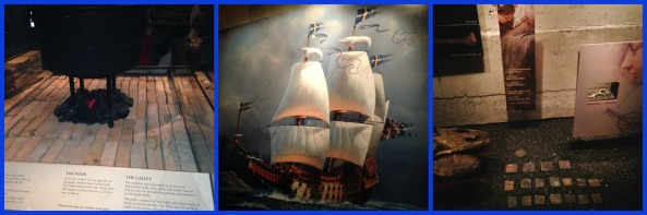 Life on the boat, a painting of the ship, recovered artifacts
